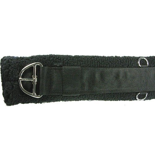 Intrepid International Western Fleece Cinch Girth, Black, 28-Inch