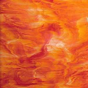(Spectrum Red/orange/white Stained Glass Sheet - 8
