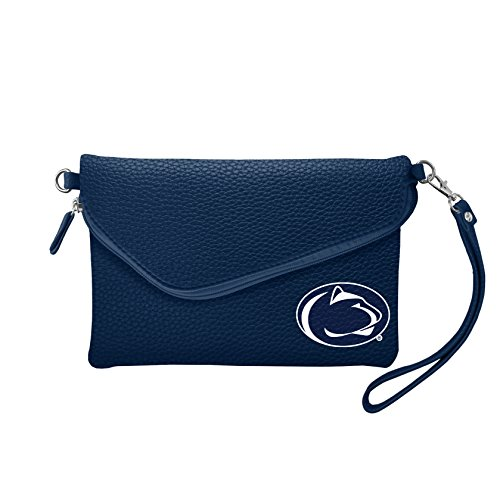 NCAA Penn State Nittany Lions Pebble Fold Over Crossbody Purse - Penn State Nittany Lions Handbag