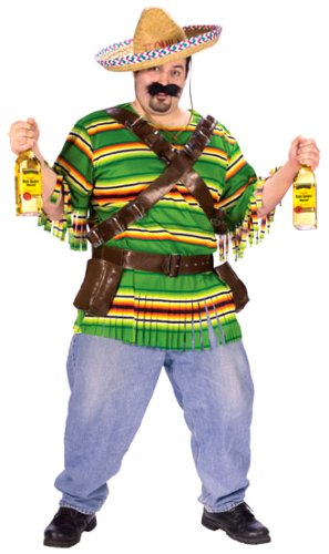 The Dude Costume Baby (FunWorld Men's  Tequila Pop N' Dude-Plus, Green, One Size Costume)