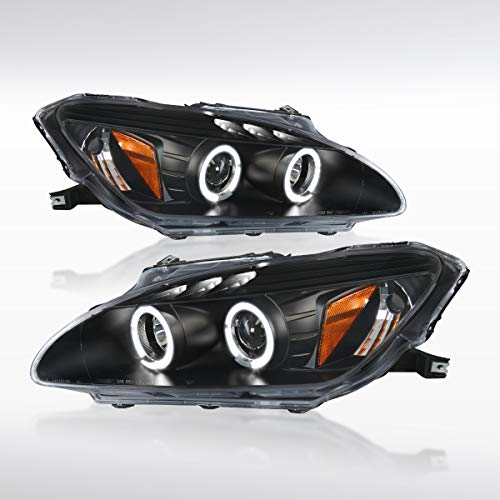 Autozensation For Honda S2000 AP1 Dual Halo Led Black Projector Headlights
