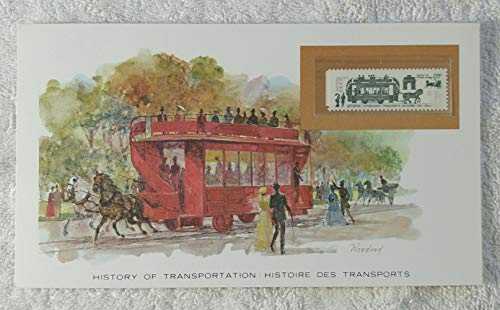 The Horse Tram - Postage Stamp (Soviet Union/USSR, 1981) & Art Panel - The History of Transportation - Franklin Mint (Limited Edition, 1986) - Steel Rail, Public Transportation