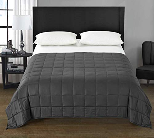 Cheap Tranquility Twin 12lb Weighted Throw Blanket Gray 48x72 (100% Polyester) Black Friday & Cyber Monday 2019