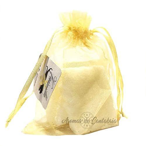 Aromas de Cantabria® Vainilla Saquito aromatizador para armario,100% natural y hecho a mano, no mancha, 100% artesanal, duracion 12 meses, antipolillas, ideal para armario,cajones,zapatero etc baños