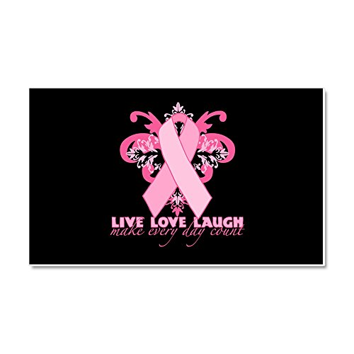 "CafePress Everyday Pink Ribbon Car Magnet, 20""x 12"" Magnetic Bumper Sticker"