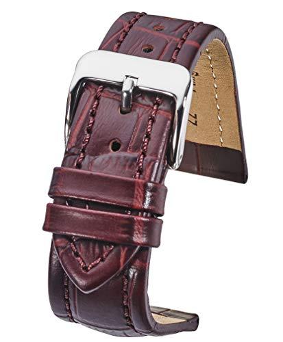 burgundy leather watch