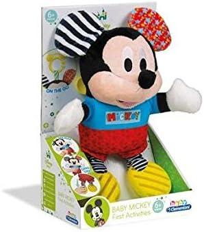 Clementoni- Disney Peluche con Sonidos Baby Mickey, Multicolor, Miscelanea (17165.1)
