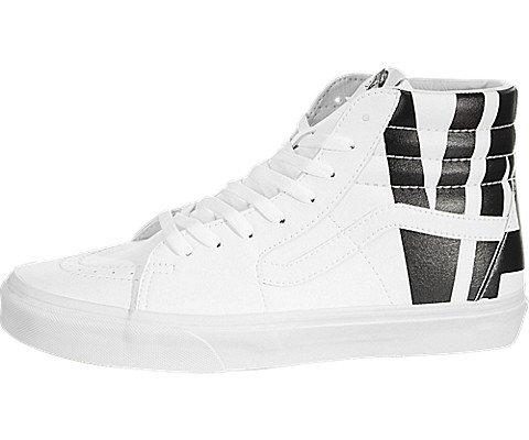 - Vans Men's Sk8 Hi Classic Tumble Skate Shoes (10.5 B(M) US Women/9 D(M) US Men, True White)