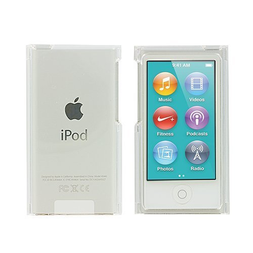 透明クリスタル保護ケース 透明ハードスナップオン スキンケースカバー Apple iPod Nano 第7世代 7G 7用   B07RF87YNJ