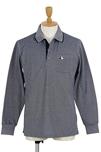 ブラック&ホワイト Black&White ポロシャツ 長袖ポロシャツ 吸水速乾 胸ポケット付 メンズ b9008gsya