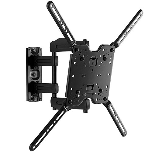 Sanus Full-Motion TV Wall Mount for 32' to 80' TVs Extends 14.6' & Single Stud Install - Bracket fits most LED, LCD, OLED, and Plasma Flat Screen TVs w/ VESA Patterns up to 600 x 400 - OLF15-B1 …