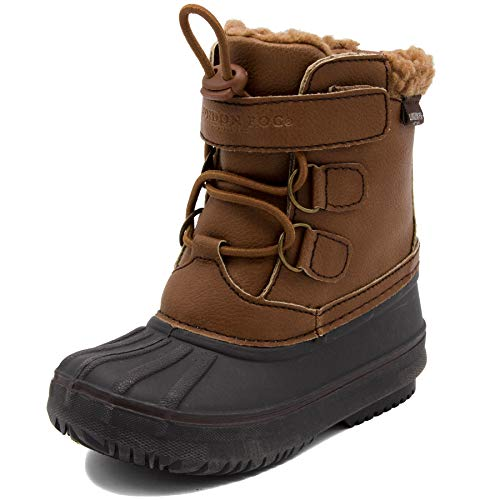 LONDON FOG Boys Oxford Toddler Cold Weather Snow Boot Cognac 8