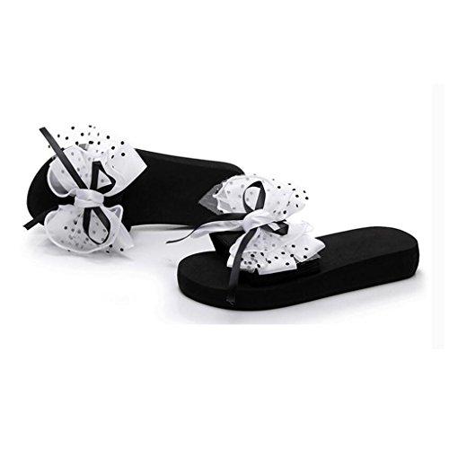 de al EU37 aire 5 femenino tacón Playa antideslizante CN37 Tamaño Blanco de mar Pink verano MUMA libre 5 Junto Piso arena inferior UK4 Zapatos Zapatillas Plataforma Zapatos Color de al Sandalias qxwnHZ4