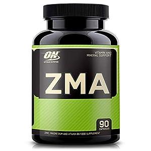 Optimum Nutrition ZMA, Vitamines et Minéraux, Zinc, Magnésium et Vitamine B6, Non Aromatisé, 90 Portions, 90 Comprimés