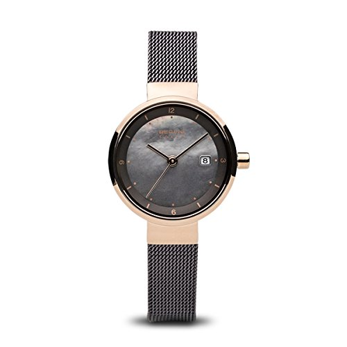 BERING Time 14426-265 Womens Solar Collection Watch with Mesh Band and scratch resistant sapphire crystal. Designed in Denmark.