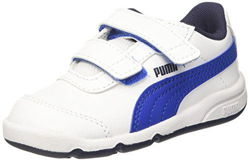 Puma Unisex-Kinder Stepfleex 2 SL V Inf Sneaker Weiß (Puma White-Turkish Sea-Peacoat)