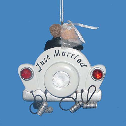 Just Married Wedding Car (Just Married Car Ornament)