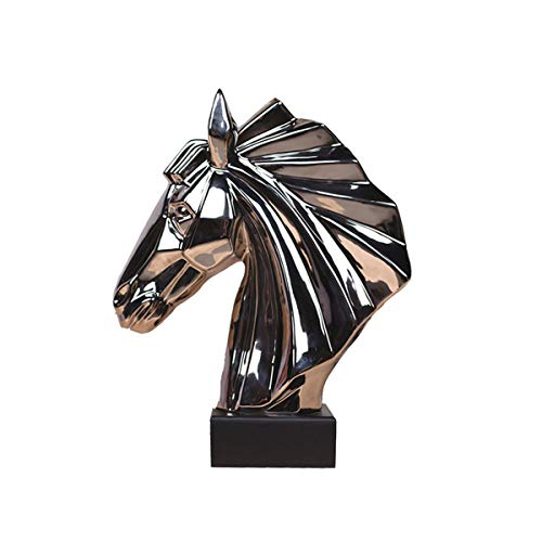 - DEAI Elegant,Vintage,Resin,Horse,Head,Carving,Fine,Crafts,Ornaments,Office,Home,Feng Shui,Decorations,Business is Booming,Gift,Sculpture,Art