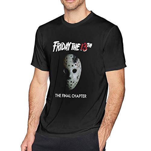 Houxiaojun The Many Moods of Jason Voorhees Mask Men Cool T-Shirt Black 6XL -
