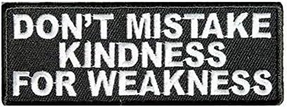 間違いないMy Kindness For Weakness Motorcycle新しいBiker Vest Sew Onパッチ