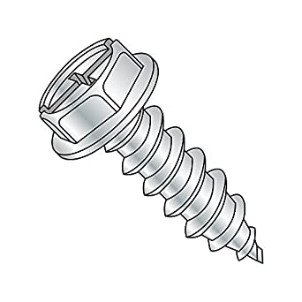 Hex Washer Head Slotted Drive Zinc Plated #4-24 Thread Size 1//4 Length Steel Sheet Metal Screw Pack of 100 Type AB