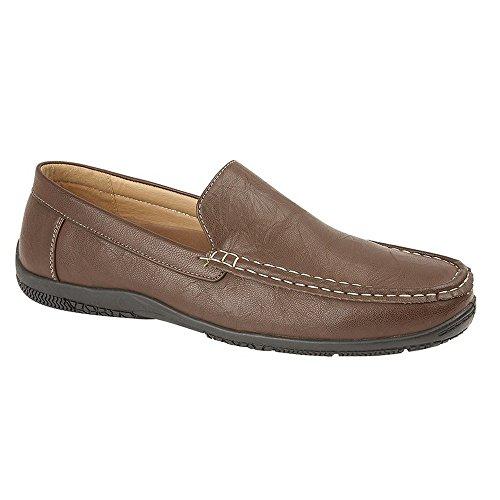 Scimitar Mens Slip-On Casual Shoe Brown YsEAm0nG