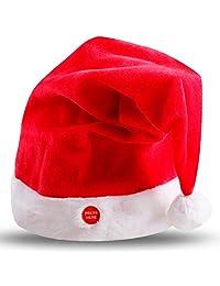 Thobu Magic Singing Dancing Talking Santa Hat for Adults Kids Christmas Toys Party Toy
