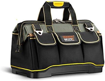 zmart 13インチ 工具 ツール バッグ 1680 D オックスフォード 布 トップ 広口 電気 工事