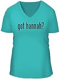 got hannah? - A Nice Women's Short Sleeve V-Neck T-Shirt Shirt