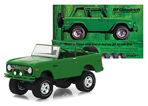 1971 Ford Bronco Take Control - BF Goodrich Vintage Ad Cars, Hobby Exclusive, Authentic Decoration, Metal Chassis, True-to-Scale Detail, Limited Edition