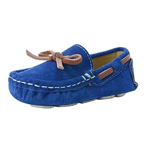 Jungen Mädchen Kleinkind Bootsschuhe Mokassin Faux Wildleder Outdoor Freizeit Loafer Flach Blau