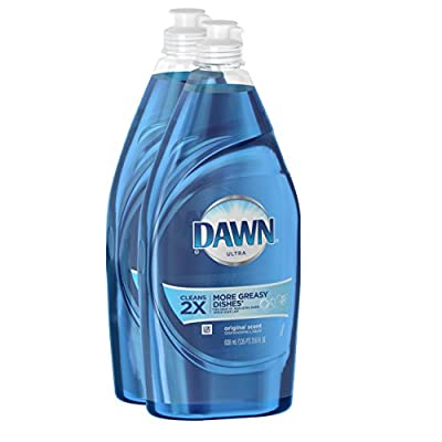 Dawn Dish Soap, Ultra Dishwashing Liquid Original Scent 21.6 Oz 2 Count