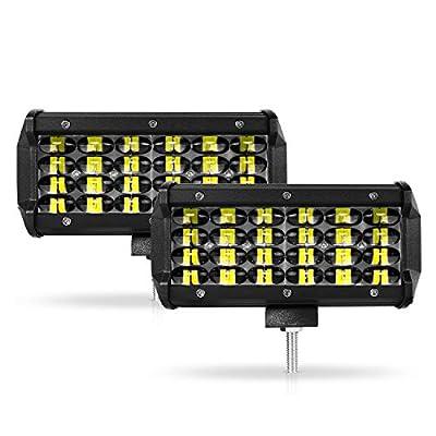 HIMA4X4 7 Inch LED Light Bar, 140W 14000LM Led Off Road Lights Fog Lights Pods Lights Driving Lights for Truck ATV UTV SUV Jeep Boat Tractor, 2 Year Warranty (2 Pack): Automotive