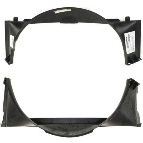 Fan Shroud Compatible with CHEVROLET S10 1994-2004 / Blazer 1995-2005 Radiator Upper and Lower V6