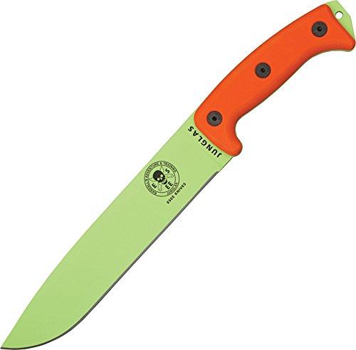 ESEE Junglas Venom Green Blade/Sheath with Orange G10 Handles (Ontario Outdoor Fixture)