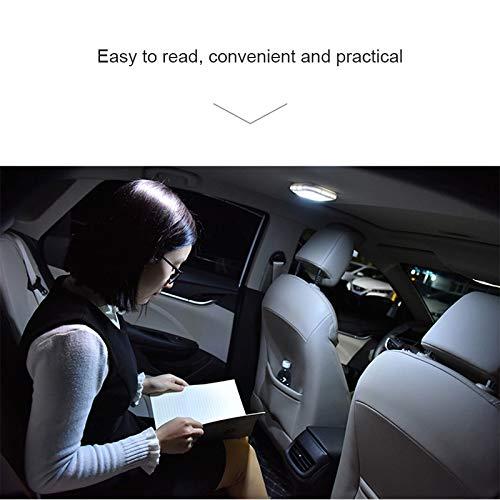 Cutogain Auto de Camiones de Interior inal/ámbrica de Lectura de Techo el magn/ética l/ámpara LED con el Cable de Carga USB zeichnet Blue Light