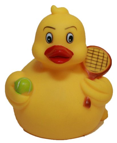 Rubber Ducks Tennis, Waddlers Brand Rubber Duckies That Races Upright, Sports Tennis Themed Bathtub Toy Birthday Baby Shower Mother's Day Father's Day Gift, All Dept. Gift Tennis Lovers