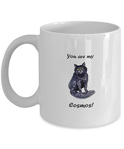 You Are My Cosmos, Valentine's Day, I Love You, Valentine Gift, Together Forever, Be Mine, Anniversary, Coffee Mug, Cat mug 11 (Cosmos Round Spoon)