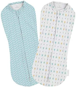 SwaddleMe Pod 2 Pack Arrows, Newborn (0-2 Months, 5-12 lbs, Orup to 26