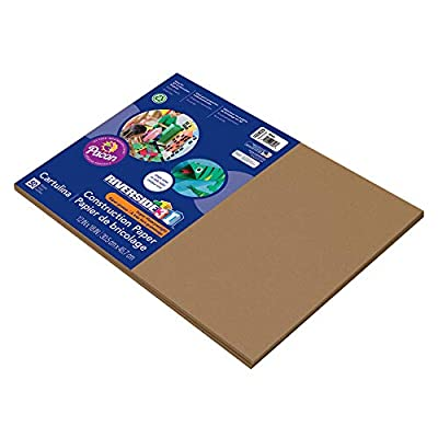 Riverside 3D Construction Paper, Brown, 12