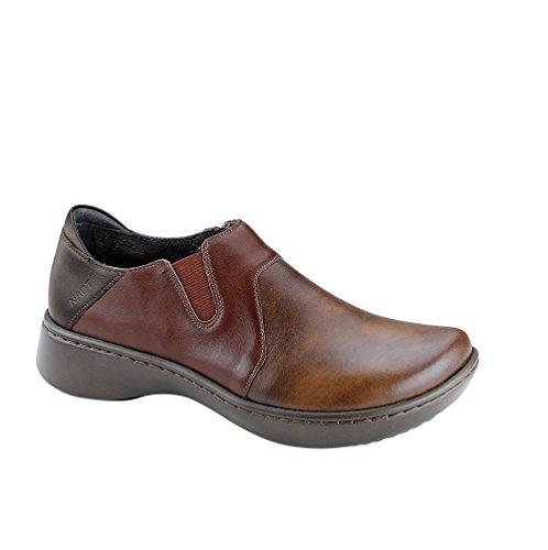 Naot Footwear Women's Lenok Pecan Brown Leather/Toffee Brown Leather/French Roast Leather 39 M (Pecan Footwear)