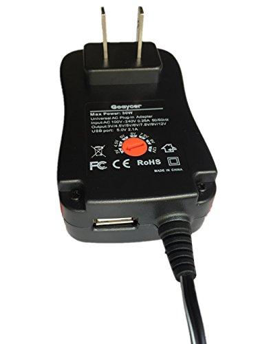 Goaycer Multi Voltage Universal AC DC Adapter 3V 4 5V 5V 6V 7 5V 9V