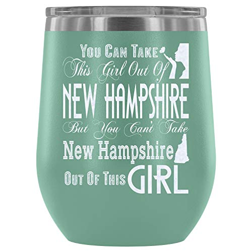 - Steel Stemless Wine Glass Tumbler, I Love New Hampshire Vacuum Insulated Wine Tumbler, New Hampshire Wine Tumbler (Wine Tumbler 12Oz - Teal)