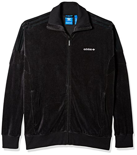 - adidas Originals Men's Tops Clr84 Velour Track, Black, Medium