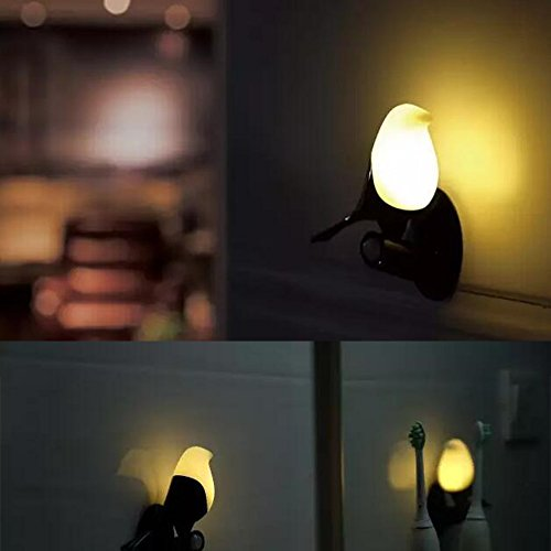 ED Light Table LED Lamps USB Rechargeable Human Smart Sensor Optically Controlled Portable Magpie Wall Night Lights Perfect Gift Decoration for Dinning/Bed Room ()
