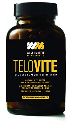 TeloVite - Advanced Multivitamin Telomere Supplement - Anti-Aging Formula - Activate Telomerase and Lengthen Telomeres - 90 Tablets