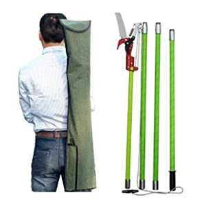 Brand New !19 Foot Tree Pole Pruner Tree Saw with Scissor Cut Home Garden