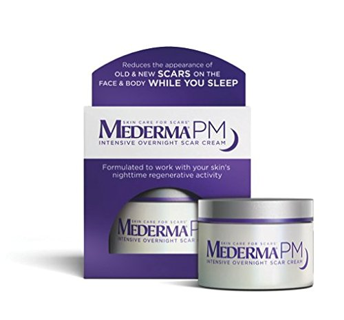 Mederma PM Intensive Overnight Scar Cream - Reduces the Appearance of Old & New Scars on the Face & Body While You Sleep - Works with Skin's Nighttime Regenerative Activity - 1.7 oz.