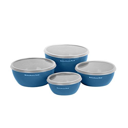 Kitchenaid Prep Bowls with Lids, Set of 4, Ocean Blue by KitchenAid (Image #1)