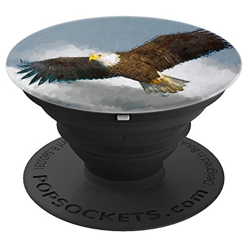 Majestic Bald Eagle In Flight - PopSockets Grip and Stand for Phones and Tablets - Flight Eagle Majestic